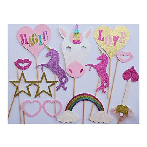 Unicorn Photo Booth Props Birthday Party Decor