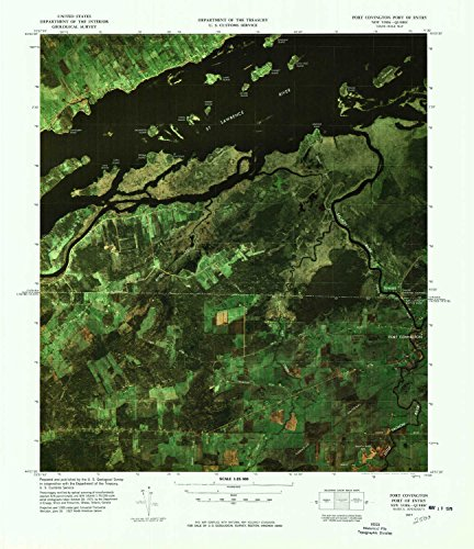 YellowMaps Fort Covington Port of Entry NY topo map, 1:25000 Scale, 7.5 X 7.5 Minute, Historical, 1977, Updated 1978, 22 x 19 in - Tyvek