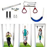 Indoor Swing by DreamGYM | Trapeze Bar & Gymnastic Rings Combo and Rope Swing for Doorway Gym Review