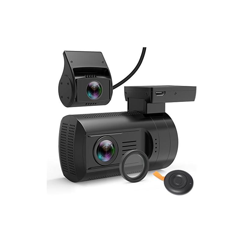 Dual Dash Cam, Veckle Mini 0906 Dual Cha