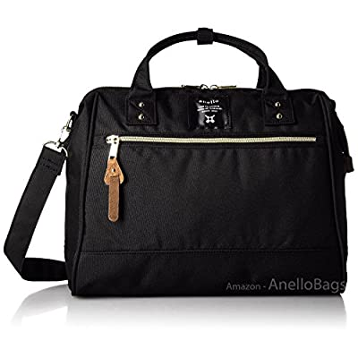 3977a3f8ffbf 70%OFF Japan Anello LARGE BLACK 2 Way Unisex Shoulder Bag Poly Canvas  Waterproof Campus