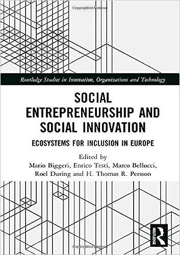 Social Entrepreneurship and Social Innovation: Ecosystems