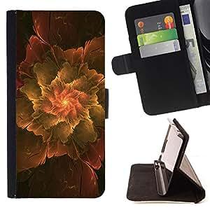 BullDog Case - FOR/Apple Iphone 6 / - / Abstract Leaf /- Monedero de cuero de la PU Llevar cubierta de la caja con el ID Credit Card Slots Flip funda de cuer