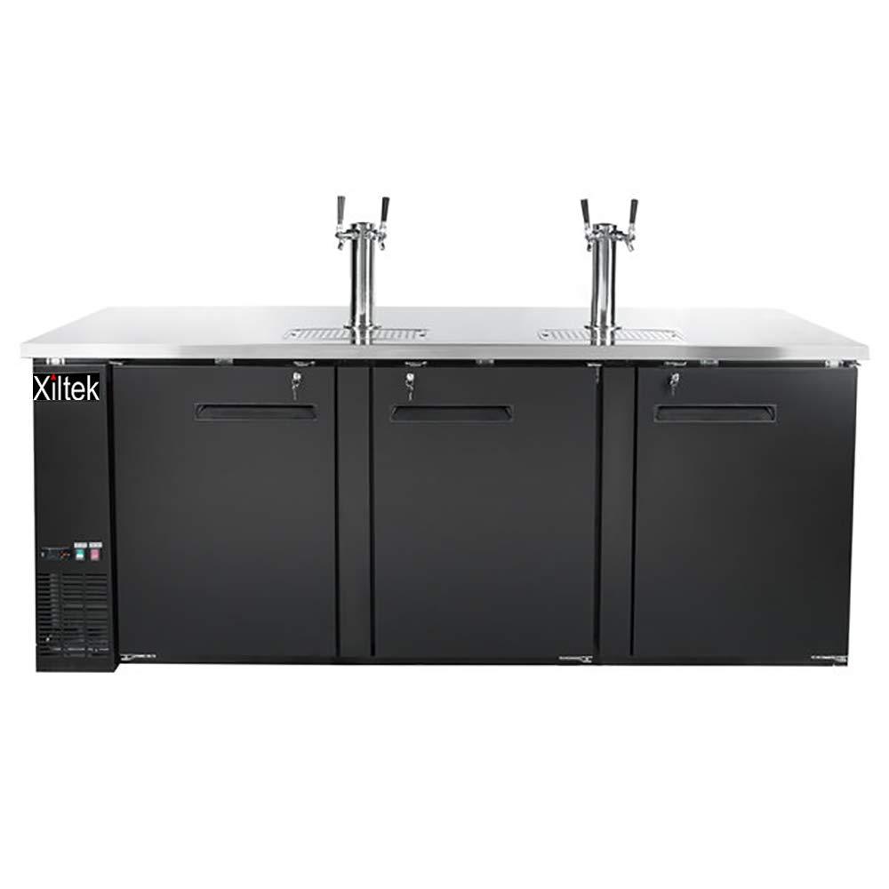 New Xiltek 72″ Kegerator/Beer Dispenser with (2) Double Tap by Xiltek