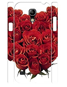 3D Print Cute Red Roses Pattern Handmade Cell Phone Protective Cover Case for Samsung Galaxy S4 Mini I9195
