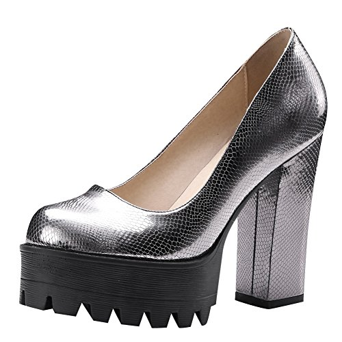 Carolbar Womens Evening Party Platform High Heels Dress Pumps Shoes Black nEqSIc
