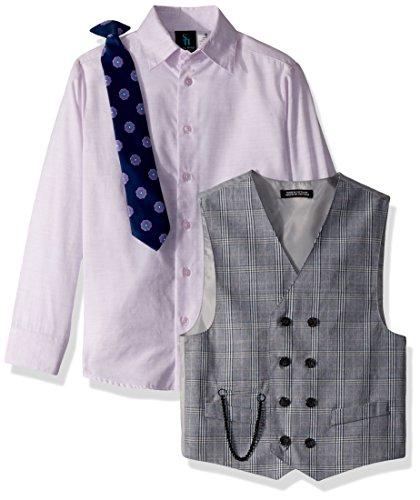 Steve Harvey Big Boys' Four Piece Vest Set, Lavendula Plaid, 16 by Steve Harvey (Image #2)