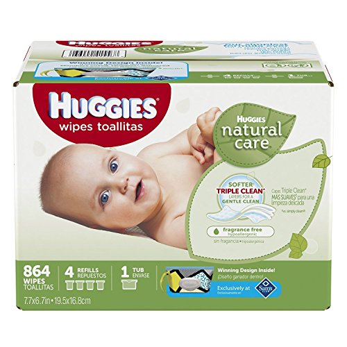 Huggies Natural Wipes Hypoallergenic Fragrance