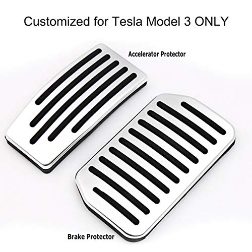 rformance Pedal Cover Non-Slip Accelerator&Brake Aluminum Foot Pedal Protective Pads ()