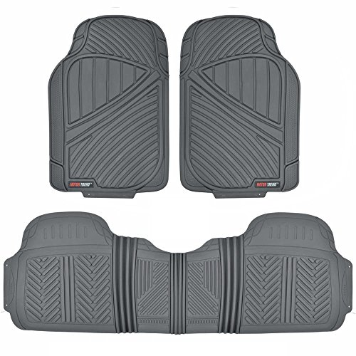 Motor Trend FlexTough Baseline - Heavy Duty Rubber Car Floor