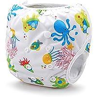 Reutilizables Swim Pañales–Talla única ajustable, absorbente, viaje