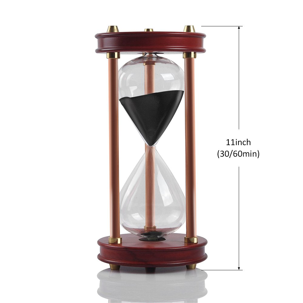Hourglass Sand Timers - SWISSELITE Wooden Hourglass Sand Timer Inspired Glass/Home,Desk,Office Decor by SWISSELITE (Image #3)