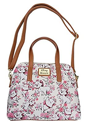 Loungefly Disney Aristocats Marie I'm a Lady White Floral Shoulder ...