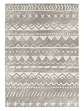 KAVKA Designs Fox Rug Area Rug, (Grey/White) - , Size: 3x5x.5 - (JLJAVC045RUG35)