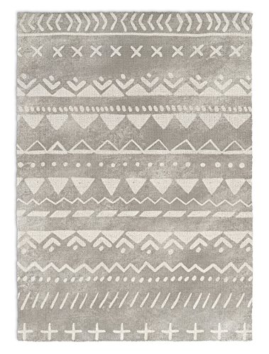 KAVKA Designs Fox Rug Area Rug, (Grey/White) - , Size: 3x5x.5 - (JLJAVC045RUG35) by KAVKA Designs