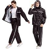 Product review for Peacoco Motorcycle Rain Suit For Men & Women Waterproof Hooded Rainwear Jacket & Trouser Suit
