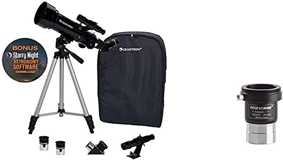 Celestron 21035 70mm Travel Scope &  93625 Universal 1.25-inch Camera T-Adapter