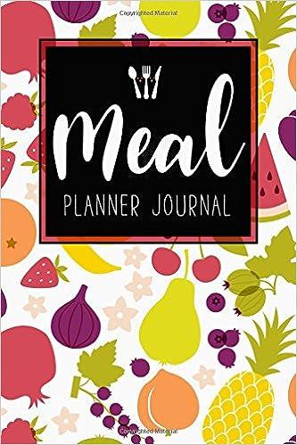 meal planner journal 52 week meal prep book diary log notebook
