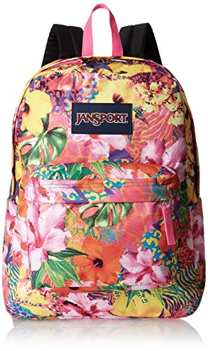 JanSport Superbreak Backpack - Durable for School & Travel, with Padded Shoulder Straps - (Tropical Mania)
