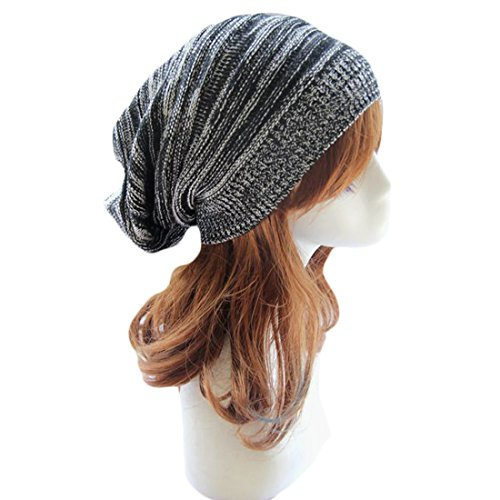 [Century Star Warm Skull Cap Beanie Hat for Men & Women Outdoor Winter Training Black] (Leopard Cowboy Hat)
