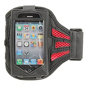 LZX Tough Sports Armband Case for iPhone 4/4S(Assorted Color) , Red
