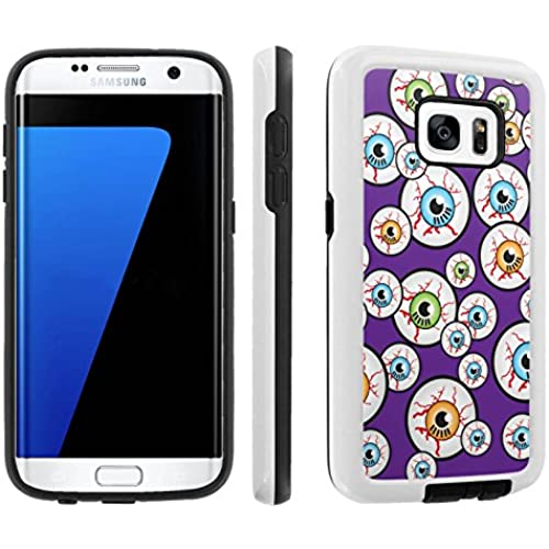 [Galaxy S7] [5.1 Screen] Armor Case [Skinguardz] [White/Black] Shock Absorbent Hybrid - [Purple Eyeball] for Samsung Galaxy S7 / GS7 Sales