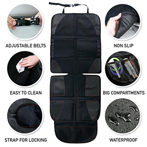 Baby Car Seat Protector with Thickest Padding - Premium Carseat Seat Protectors - Carseat Auto Cover - Seat Protector Under Car Seat - Car Seat Guardian - Leather Car Seat Mat - Booster Seat Protector by Balli (Image #7)