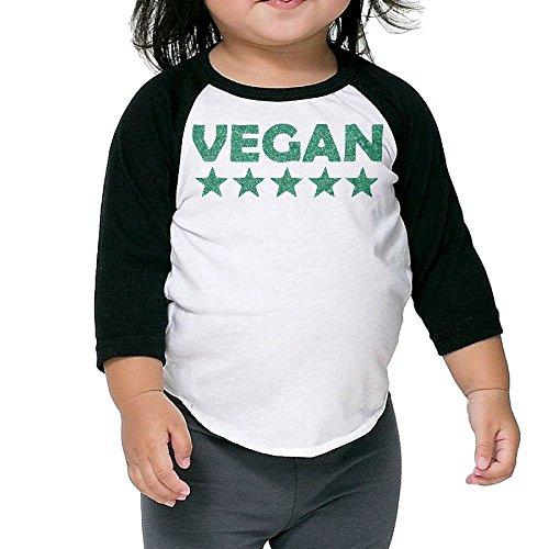 Golden Tiger Uniform (Five Star Vegan Unisex Kids 3/4-Sleeve Raglan Tee T-Shirt Child Youth Fit Sports Uniforms)