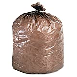 STOUT by Envision STOG3344B11 Controlled Life-Cycle Plastic Bags, 33'' x 44'', 39 gal capacity, 1.10 mil thickness, Brown (Pack of 40)