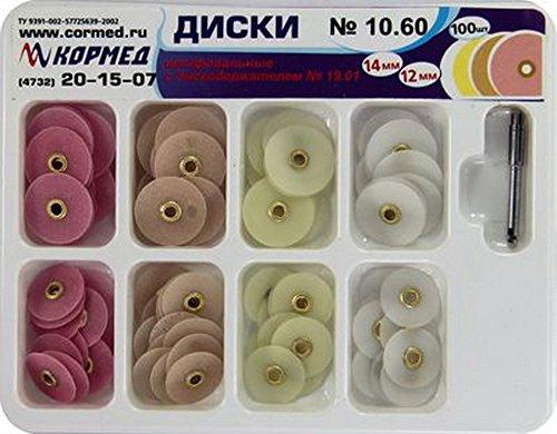 Dental Finishing Polishing discs Universal Kit 100 pcs + Mandrel