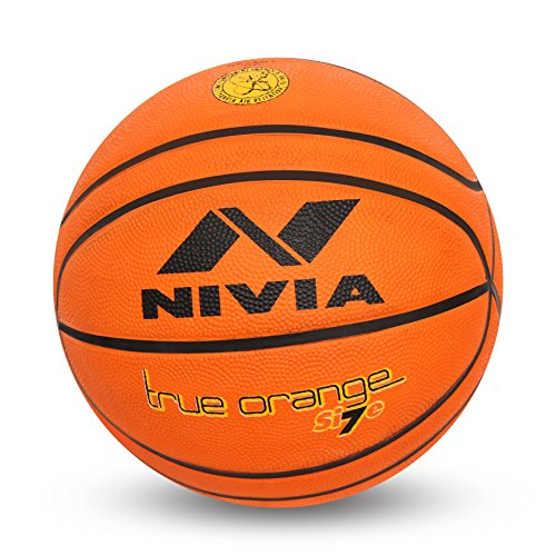 Nivia True Orange Rubber Basketball   Size: 7, Color : Orange, Ideal for : Training/Match