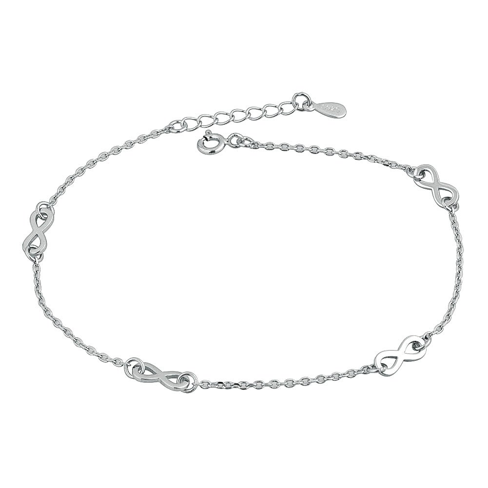 CharmSStory Sterling Silver Infinity Ankle Anklet Bracelet For Girls