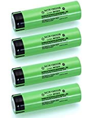 Ocamo Rechargeable Lithium Battery 3.7V 3400mAH NCR18650B Exquisite High Capacity for Panasonic Flashlight Batteries 4pcs