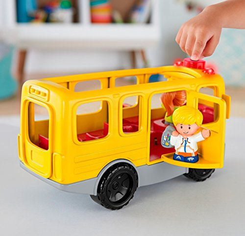 51FUoS7TooL - Fisher-Price Little People Sit with Me School Bus Vehicle