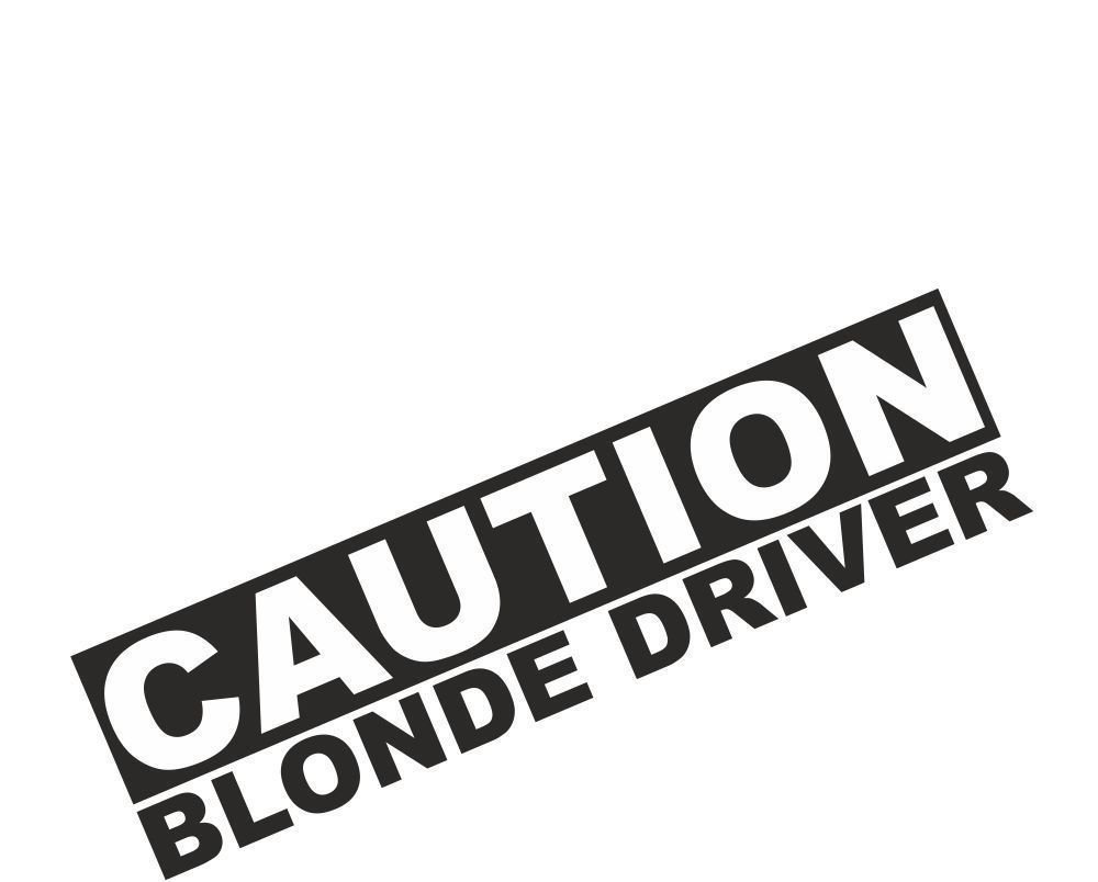 Amazon com caution blonde driver vinyl sticker external fitting automotive