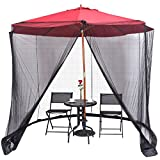 9/10FT Umbrella Table Screen Cover Mosquito Bug Insect Net Outdoor Patio Netting