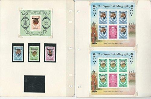 Barbuda Princess Diana Royal Wedding Lot, 493//594, Stamps, Sheets, Blocks