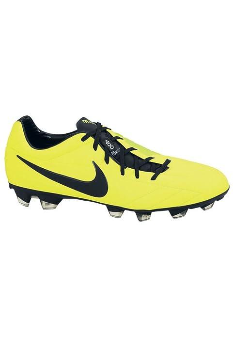Nike - Botines para Futbol Soccer T90 Laser IV FG para Hombre - Negro, 7.5 UK / 42 EU / 8.5 US: Amazon.es: Zapatos y complementos