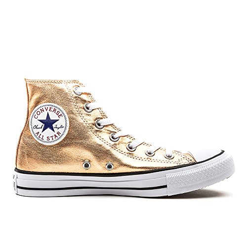Converse All Hi Alte Sneaker Lea Metallic Star Multicolore Donna HTqz6Hnr