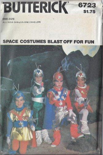 [Butterick Pattern 6723 ~ Children's Space Costume Package ~ Sizes S M L (2 - 12)] (Flash Gordon Halloween Costume)