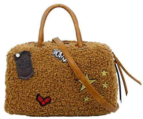 Amarillo Bolso De Handbags Sintético Mujer Asas Girly Para Material 8Z1qwwx5