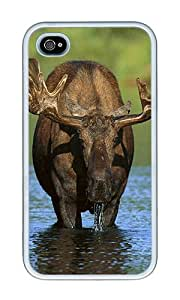 iPhone 4 Case,iPhone 4S Case,VUTTOO iPhone 4 Cover With Photo: Moose For Apple iPhone 4/4S - TPU White