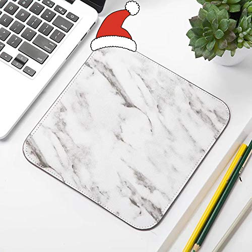 Hot Pad Super Mouse (JOJUSIS Square Computer Mouse Pad Veined Marble Print with Waterproof Coating Non Slip Base 7.8 x 7.8 Inch)