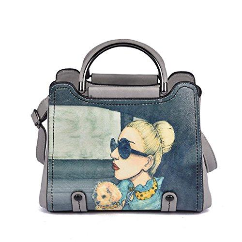 Sra. Mrs. Bolso Bandolera De Ocio Impresión De Embalajes En Diagonal Lightgray Leisure Shoulder Bag Diagonal Package Printing Lightgray