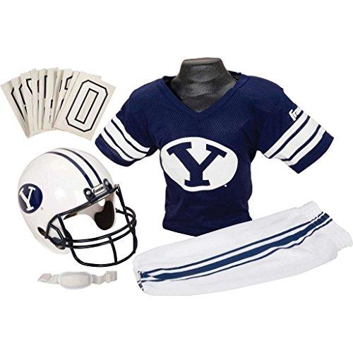 Football Kids Happy Halloween (Franklin Sports BYU Cougars Kids College Football Uniform Set - Youth NCAA Uniform Set - Includes Jersey, Helmet, Pants - Youth)