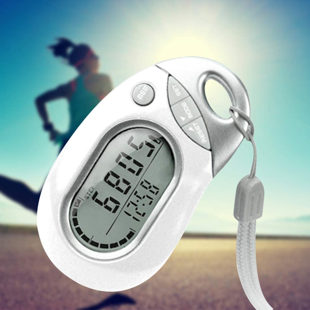 Sports & Fitness Simple Digital Pedometer Portable Walking Step ...
