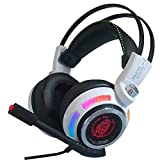 7.1 Multichannel Sound Effect GAMING Gaming Headset Over Ear Stereo USB Headphone with Microphone Noise Isolating For PC MAC (White-98) Review