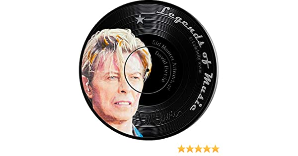 2019 Solomon Is $5 Legends Music David Bowie 1 oz Silver Proof Coin Sid Maurer