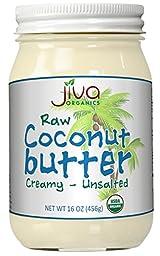Jiva Organics RAW Organic Coconut Butter 16 Ounce Jar