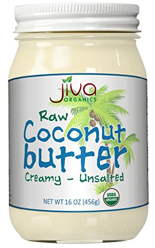 Organic Coconut Butter Raw (Manna) 16 Ounce - Keto Paleo Friendly Non-GMO -by Jiva Organics